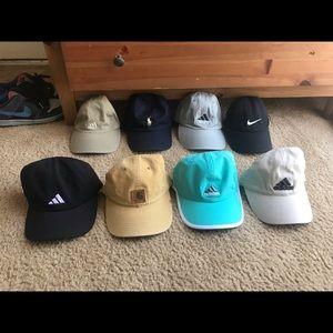 Bundle of hats Nike adidas Ralph Lauren carnhartt